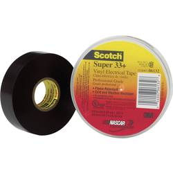 Isoleringstejp Scotch® Super 33 Svart (LxB) 6 m x 19 mm 3M 80610833800 1 rullar