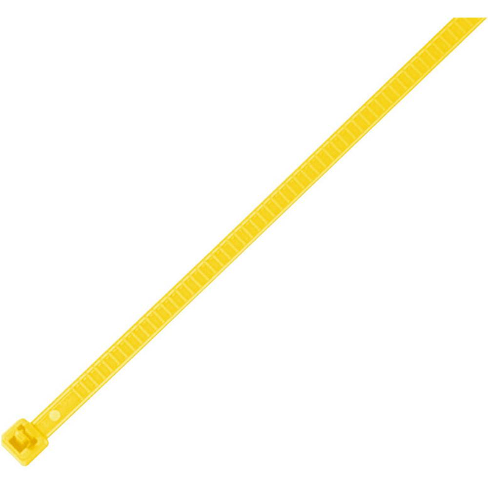 Vezice za kabele 196 mm žute boje, za višekratnu upotrebu, temperaturno stabilne HellermannTyton 115-00004 LR55R-PA66-YE-Q1 25 k