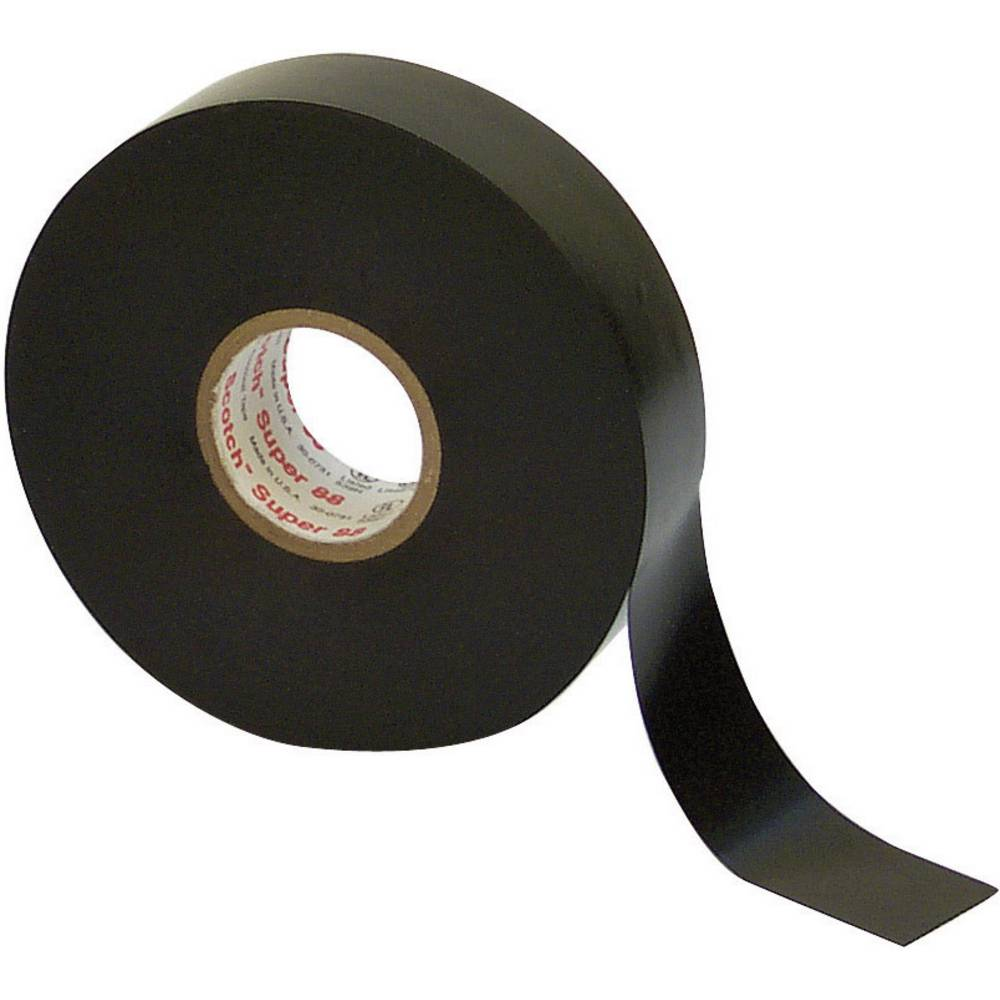 Izolirni trak 3M Scotch® Super 88, črne barve, (D x Š) 6 m x 19 mm, vsebina: 1 kolut