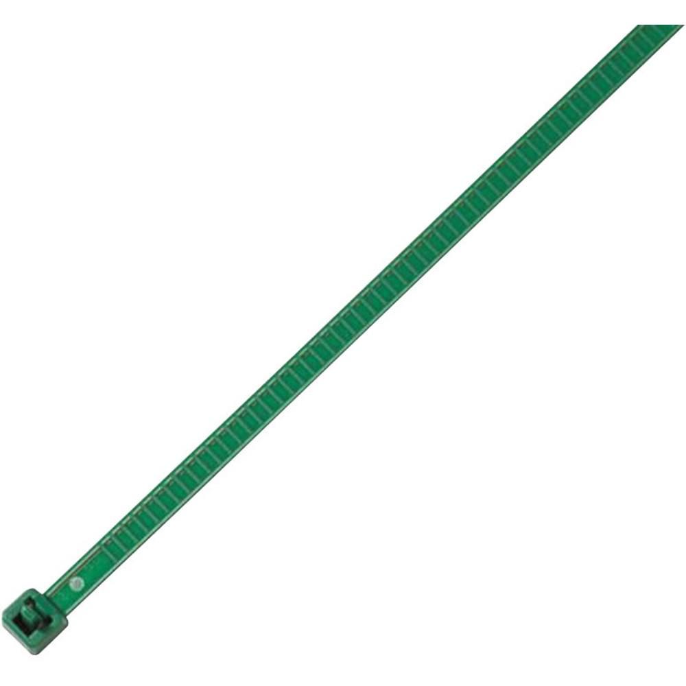Vezice za kabele 196 mm zelene boje, za višekratnu upotrebu, temperaturno stabilne HellermannTyton 115-00005 LR55R-PA66-GN-Q1 25