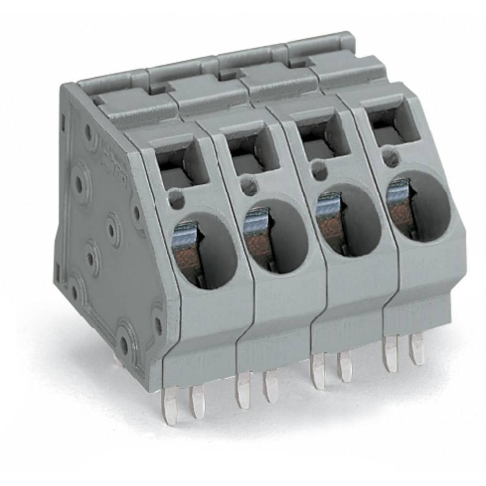 Fjederkraftsklemmeblok WAGO 16.00 mm² Poltal 4 Grå 24 stk