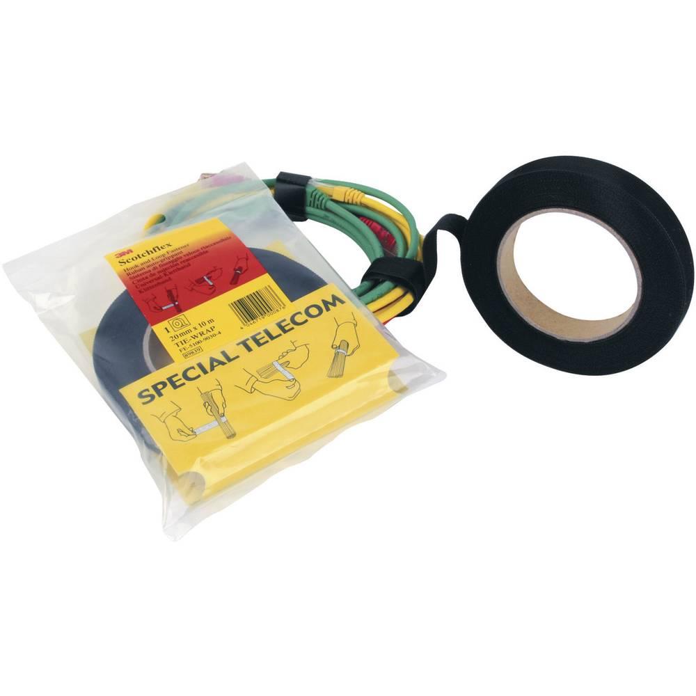 Traka s čičkom za vezanje 3M prianjajući i mekani dio (D x Š) 10 m x 20 mm crna FE-5100-9030-4 1 komad