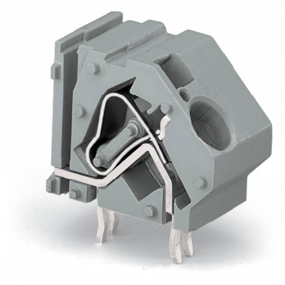 Fjederkraftsklemmeblok WAGO 16.00 mm² Poltal 1 Lysegrå 50 stk