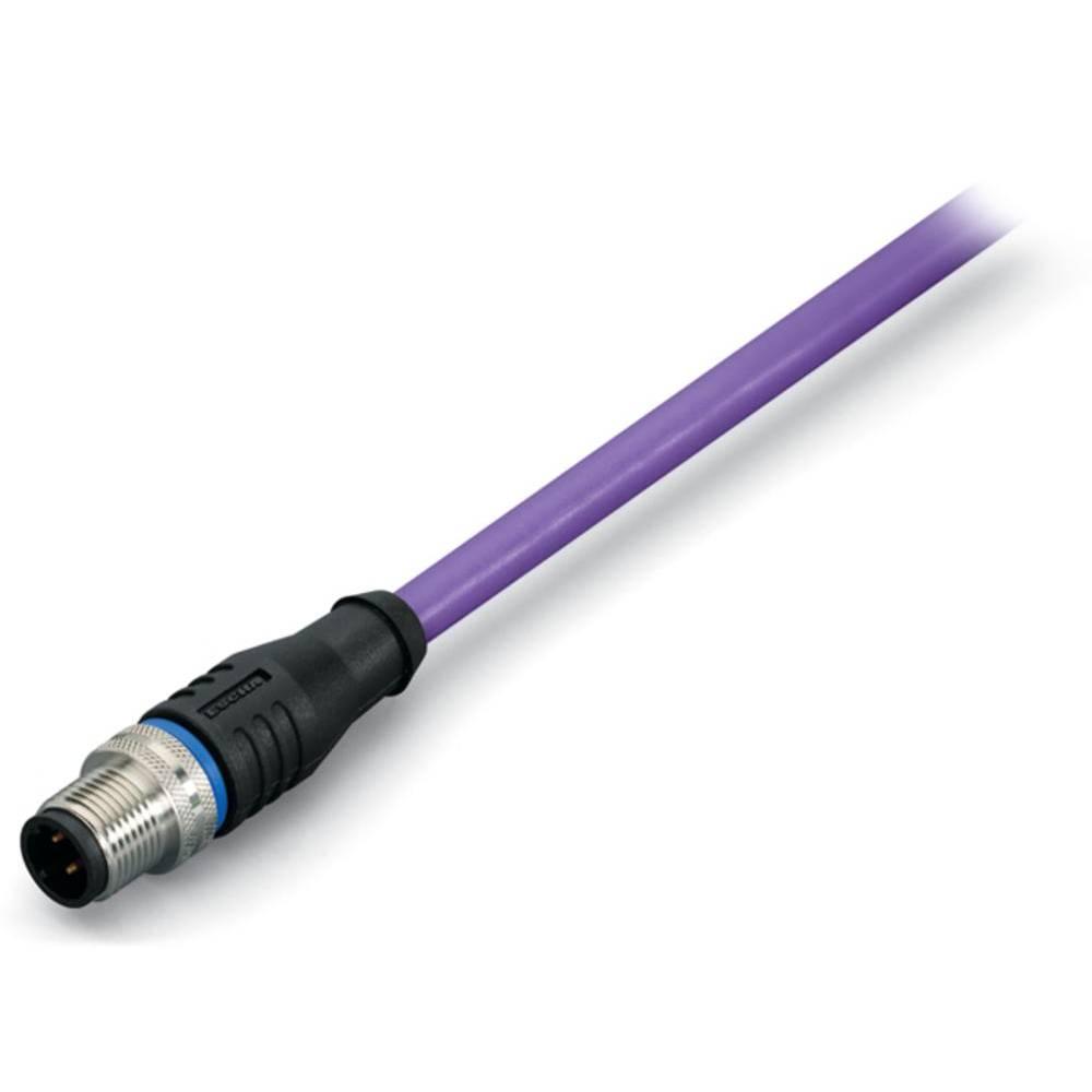 Sensor- /aktor- -datastikforbindelse, konfektioneret M12 Stik, lige 10 m Pol-tal (RJ): 5 WAGO 756-1403/060-100 1 stk