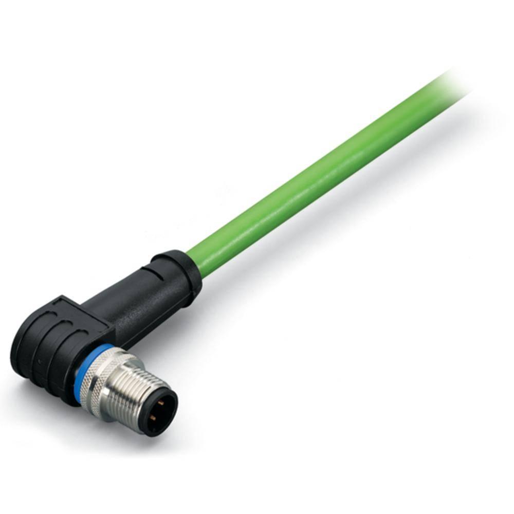 Sensor- /aktor- -datastikforbindelse, konfektioneret M12 Stik, vinklet 5 m Pol-tal (RJ): 4 WAGO 756-1202/060-050 1 stk