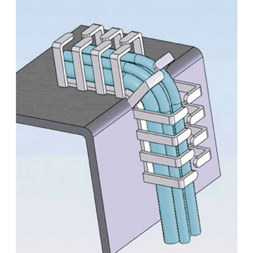 Fleksibilni kanal za kable Richco RX1616-4, (D x Š x V) 500x16 x 16 mm, siv, 1 kos
