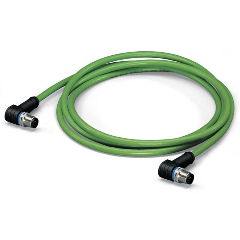 Sensor- /aktor- -datastikforbindelse, konfektioneret M12 Stik, vinklet 5 m Pol-tal (RJ): 4 WAGO 756-1204/060-050 1 stk
