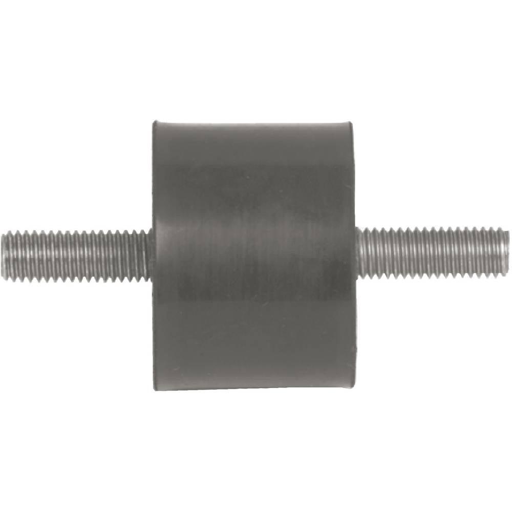 PB Fastener element za pričvršćivanje 110005 obostrani navoj, crni