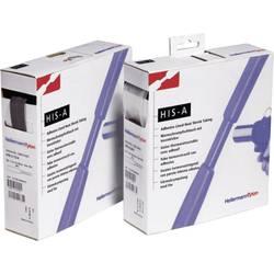 Toplotno skrčljiva cevka z lepilom črne barve 6 mm razmerje krčenja:3:1 HellermannTyton 308-10600 HISA-6/2-PEX-BK H&B