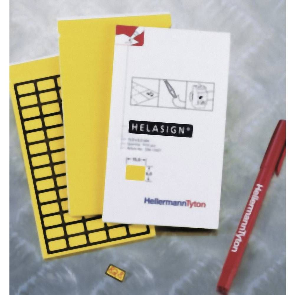 Etikete za označevanje kablov Helasign 19 x 11 mm označevalno polje: rumene barve HellermannTyton 598-92427 TAG124FB-270-YE Anza