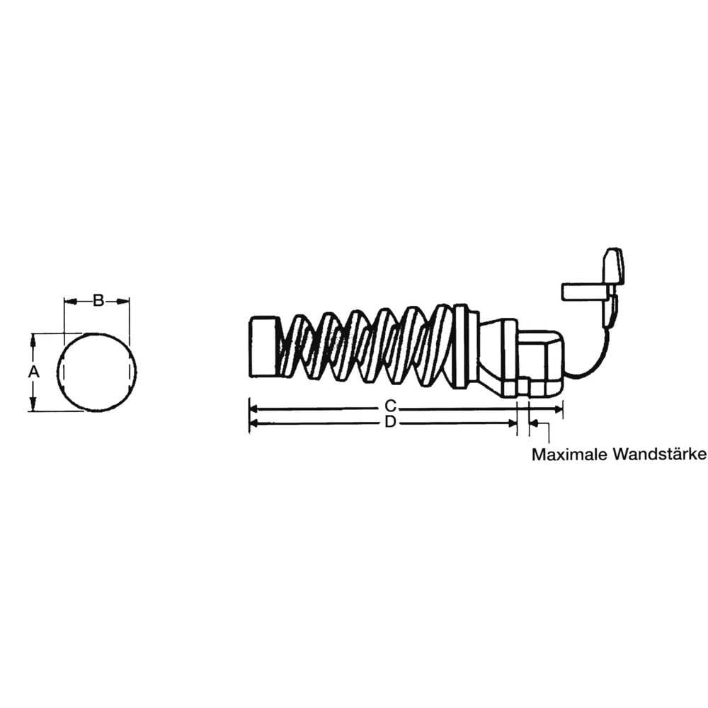 Zaščita pred potegom premer sponke (maks.) 7.4 mm, poliamid črne barve PB Fastener H-1593 1 kos