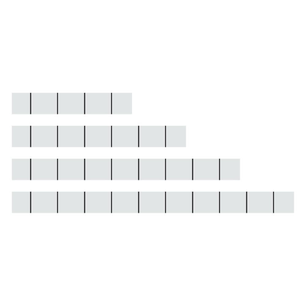 Označevalni trakovi 757-041 bele barve WAGO vsebuje: 100 kosov