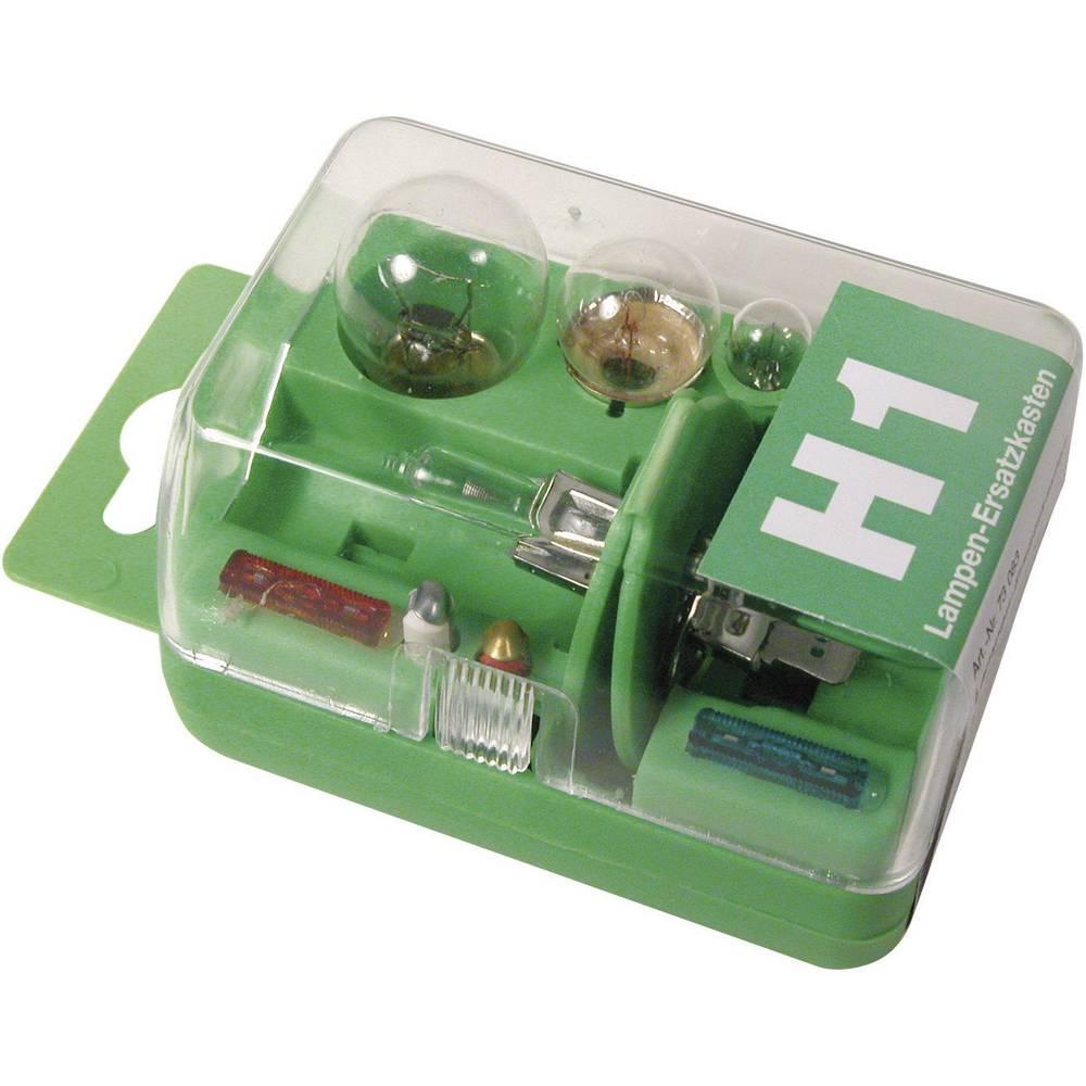 Rezervne žarnice v škatli Unitec, H1, 12 V, 1 kos, prozorne