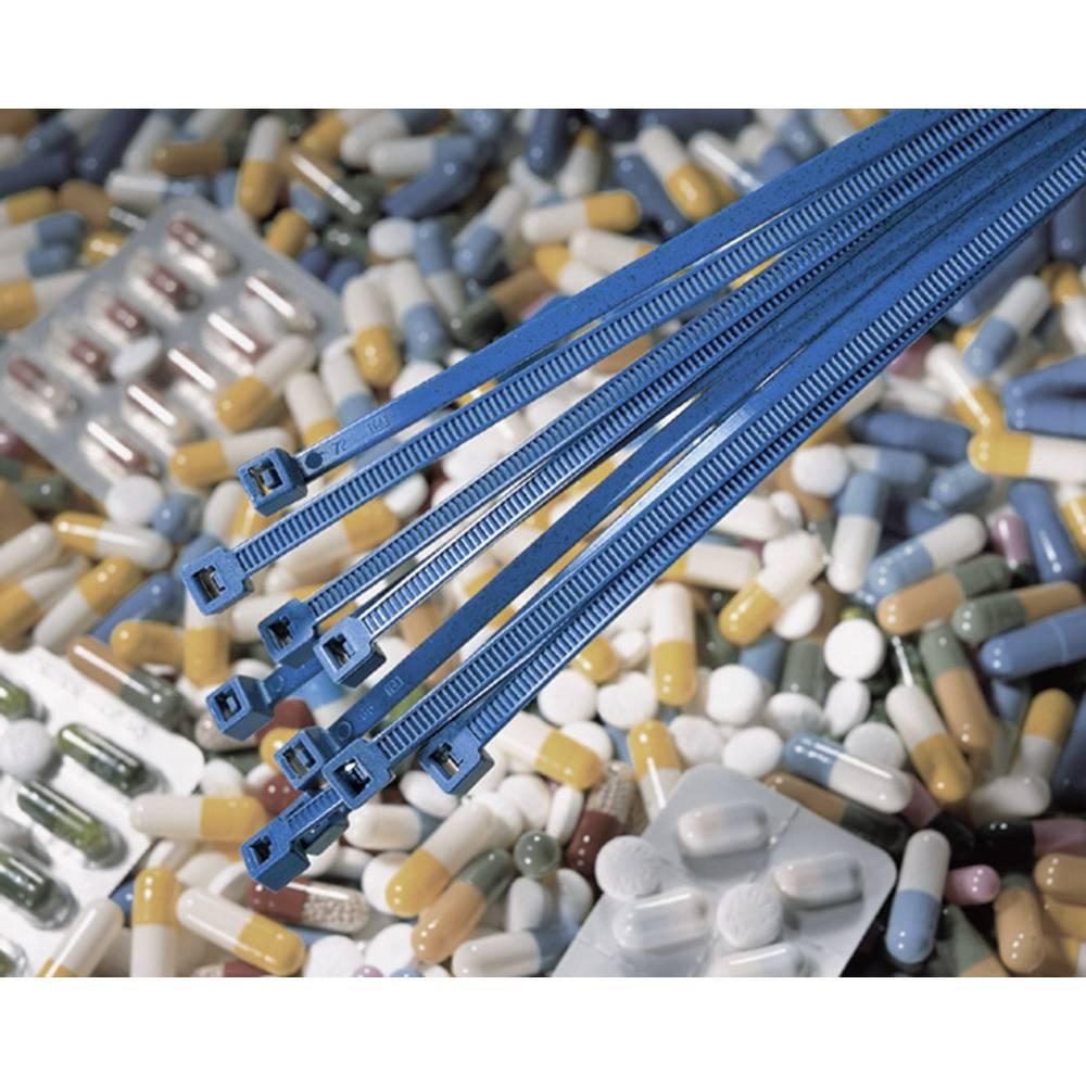 Vezice za kabele 200 mm plave boje mogučnost detekcije HellermannTyton 111-00830 MCT50R-PA66MP-BU-C1 1 kom