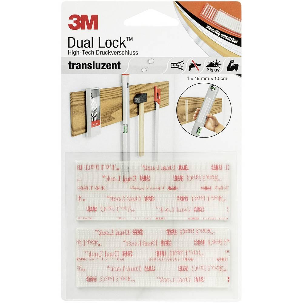 Samoljepljiva traka s čičkom s gljivastim glavicama DL-HT 3M (D x Š) 10 cm x 1.9 cm prozirna 4 komada