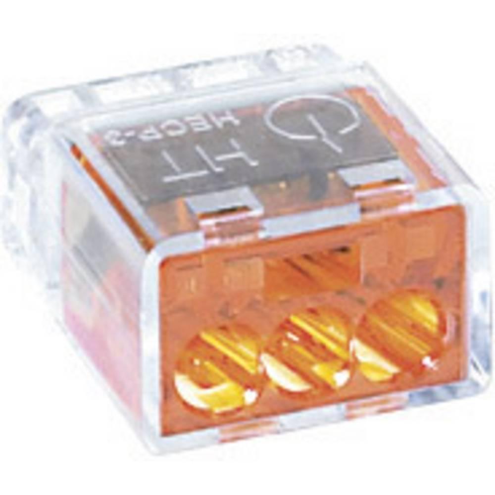 Povezovalna sponka HellermannTyton HelaCon Plus, prečni prerez: 0,5-2,5 mm2, 24 V, oranžna 148-90001