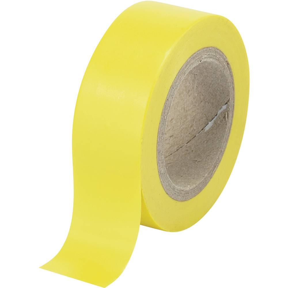Izolirni trak TRU Components rumene barve (D x Š) 25 m x 19 mm iz kavčuka vsebuje: 1 kolut
