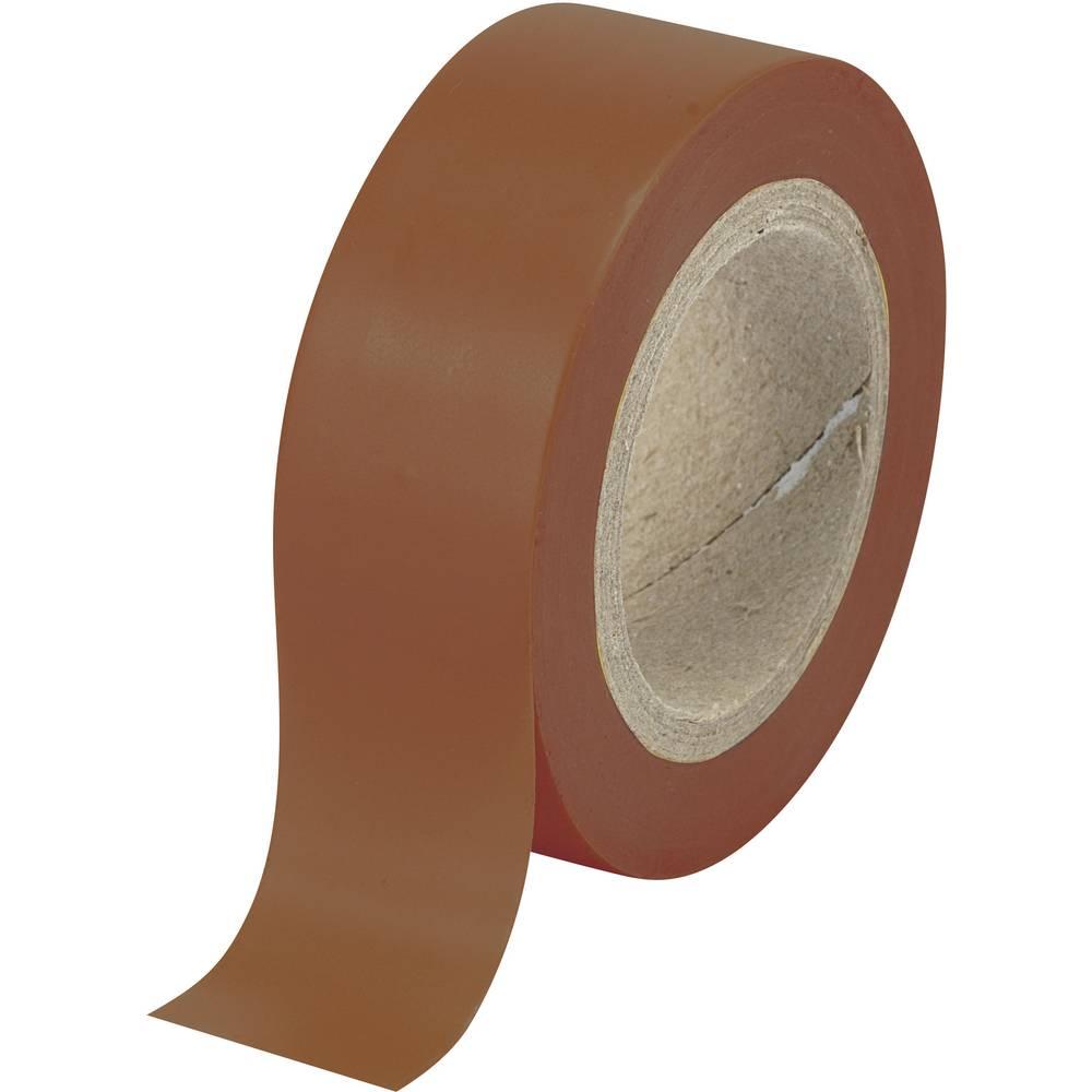 PVC izolacijska traka 540915BN Conrad (D x Š) 10 m x 19 mm smeđa PVC sadržaj: 1 kolut