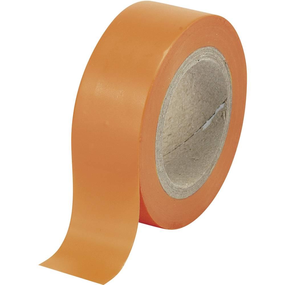 Izolirni trak oranžne barve (D x Š) 10 m x 19 mm TRU COMPONENTS 1564120 1 kolut