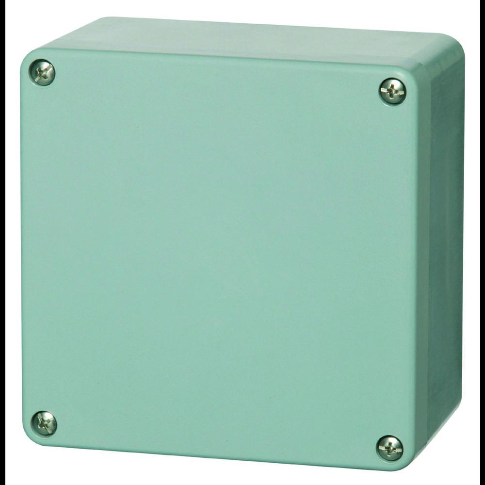 Universalkabinet 160 x 160 x 90 Polyester Sølvgrå (RAL 7001) Fibox P 161609 1 stk