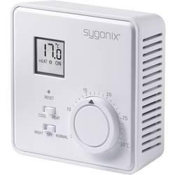 Rumstermostat 230 V Sygonix 33988Q Utanpåliggande Sygonix vit, matt