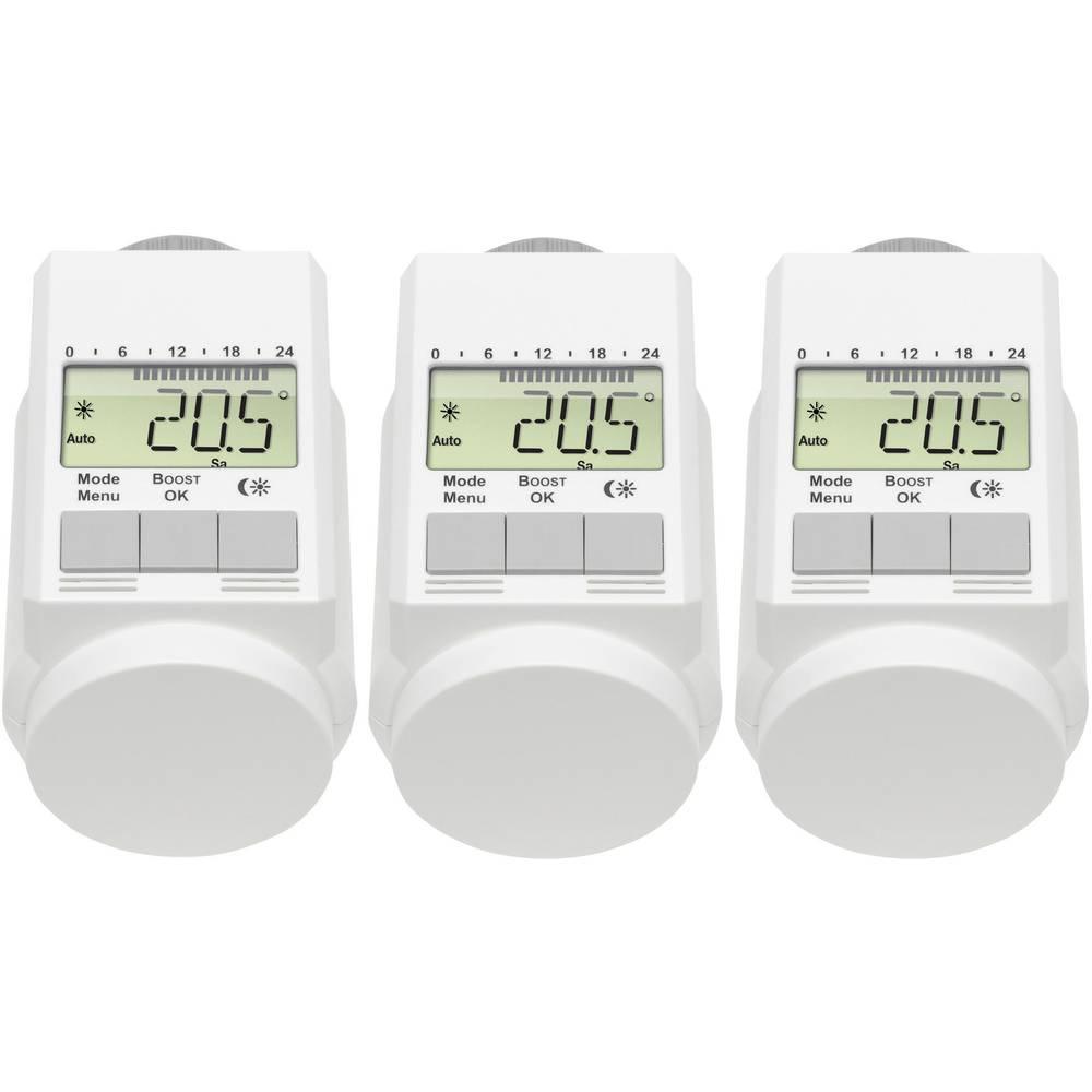 eQ-3 L-regelaar Elektronski radiatorski termostat Elektronsko 3-delni komplet 5 do 29.5 °C
