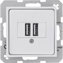 USB-stikdåse Indsats Sygonix SX.11 Hvid (blank) 1 stk