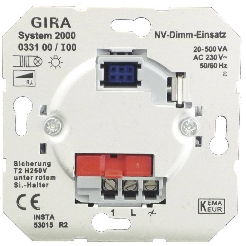 GIRA ugradni dio prigušivač svjetla standard 55, E2, Event Klar, Event, Event Opak, Esprit, ClassiX, sistem 55 033100