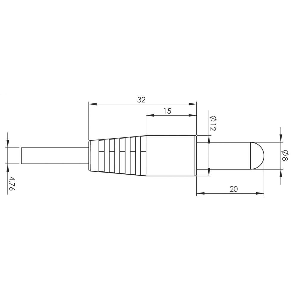 Temperaturni senzor za obtočni kontrolnik -55 do 125 °C H-Tronic TS2 umetna masa 1114440