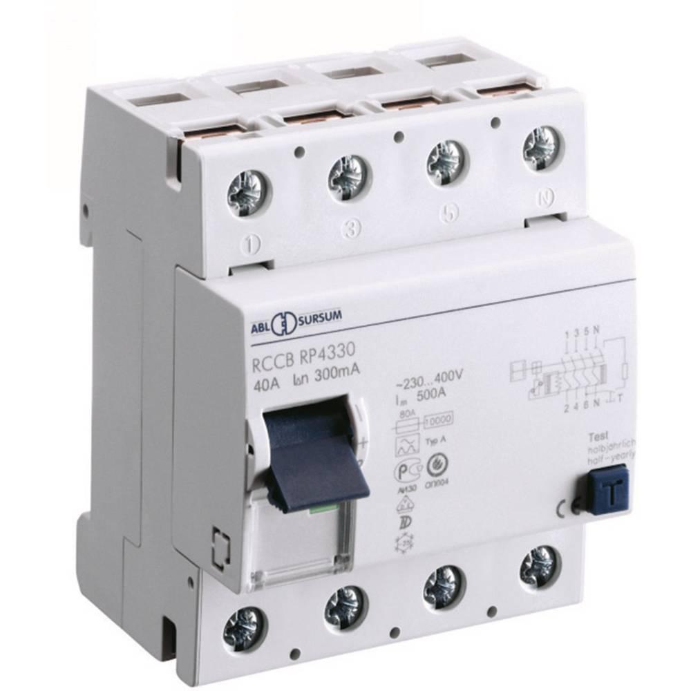 FID zaščitno stikalo 4-polno 40 A 400 V ABL Sursum RP4330