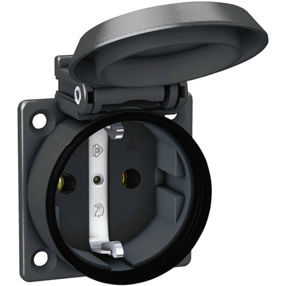 Vgradna vtičnica ABL Sursum 1561000, črne barve, 230 V/AC, maks. obremenljivost: 16 A