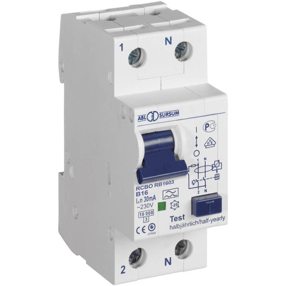 FI-sikkerhedsafbryder/automatsikring 1-polet 16 A 0.3 A 230 V ABL Sursum RC1630