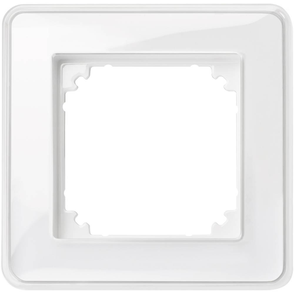 Merten enojni krovni okvir, M-Creativ prozorni, polarno bele barve MEG4010-3500