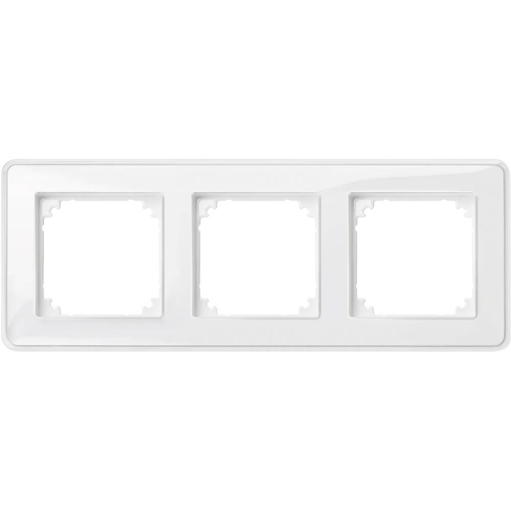 Merten trojni krovni okvir, M-Creativ prozorni, polarno bele barve MEG4030-3500