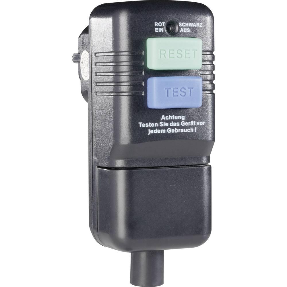 Varnostni vtični adapter za montažo, črne barve, IP40