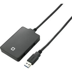 4-vratni USB 3.0 razdelilnik, Renkforce črne barve