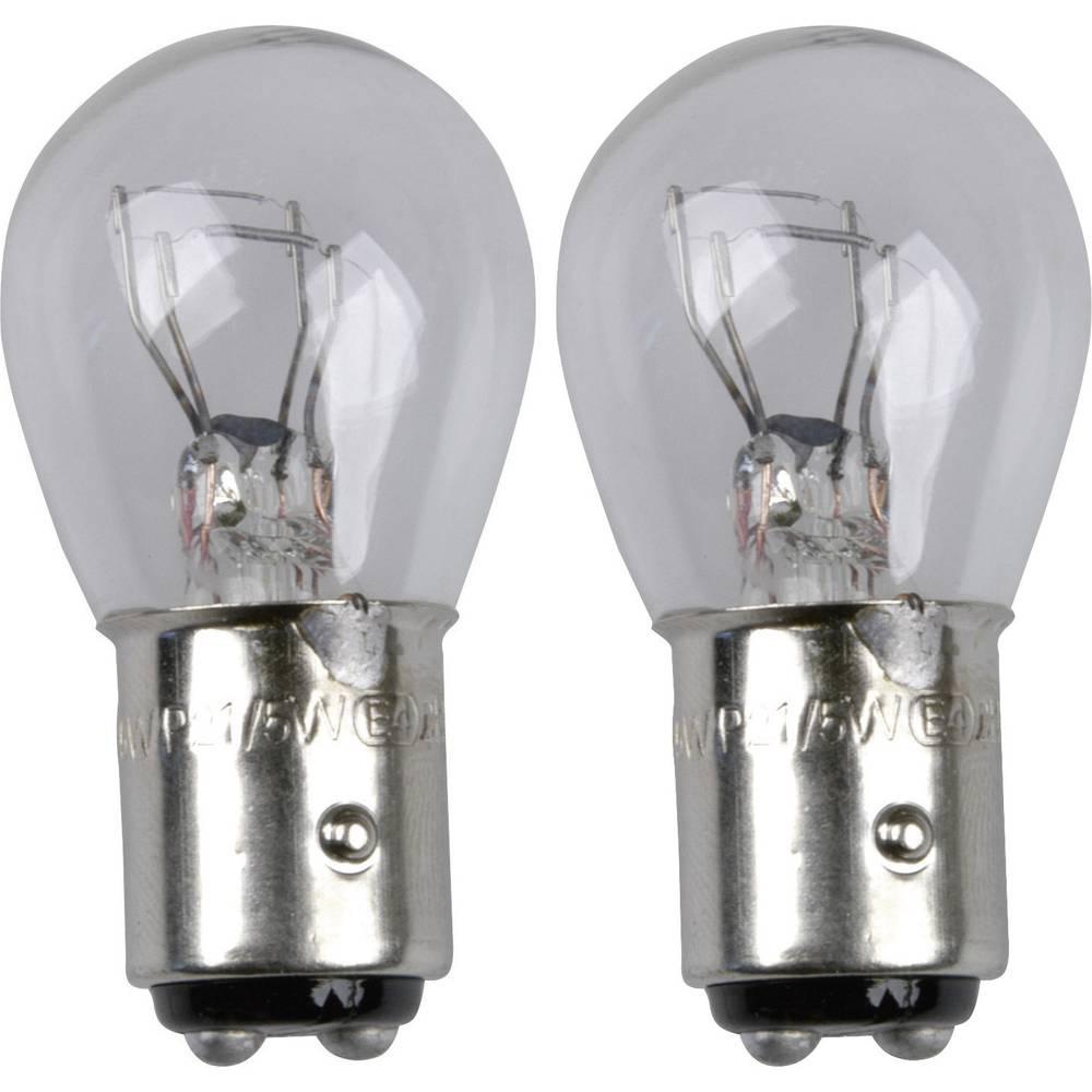 Avtomobilska standardna žarnica Unitec, P21/5W, 12 V, 1 par, BAY15D, prozorna 77848