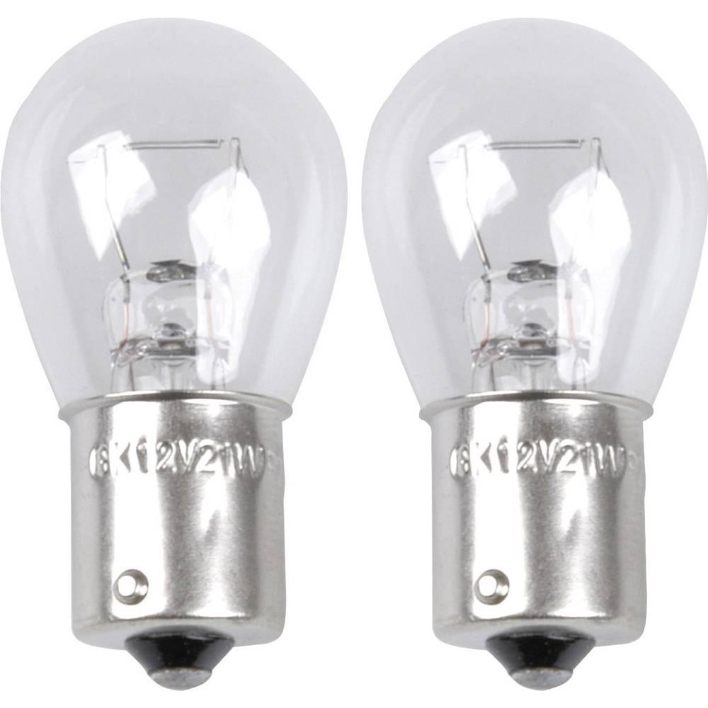 Avtomobilska standardna žarnica Unitec, P21W, 12 V, 1 par, BA15s, prozorna 77844