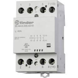 Kontaktor 1 stk 22.44.0.024.4710 Finder 3 x afbryder, 1 x brydekontakt 24 V/DC, 24 V/AC 40 A