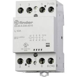 Kontaktor 1 stk 22.64.0.230.4710 Finder 3 x afbryder, 1 x brydekontakt 230 V/DC, 230 V/AC 63 A