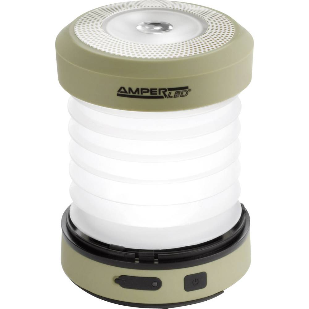 LED svjetiljka za kampiranje Ampercell Monica napajanje dinamom 168g maslinasta 10429