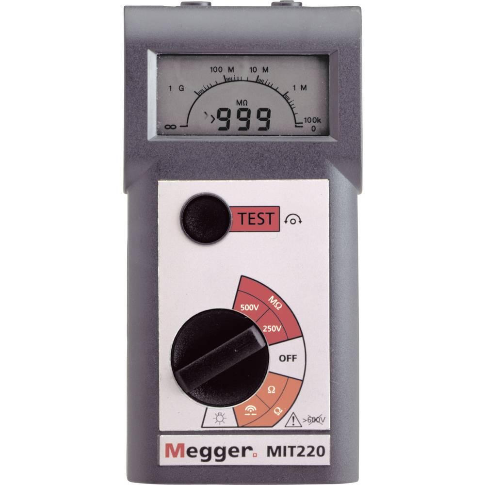 Megger MIT220 merilnik izolacije 250 V, 500 V 0.01 - 999 M CAT III / 600 V