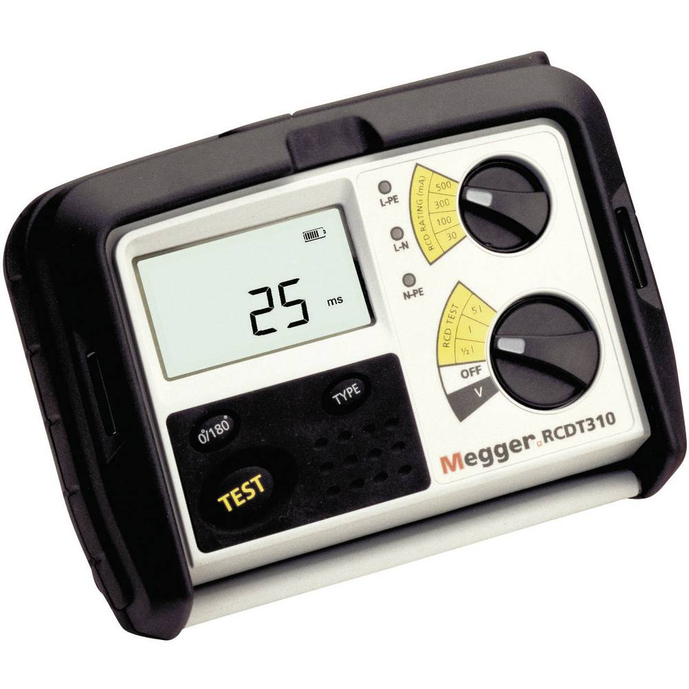 Megger RCDT330 FI/RCD-testirna naprava, meritve prek DIN VDE 0100-600, DIN VDE 0105-