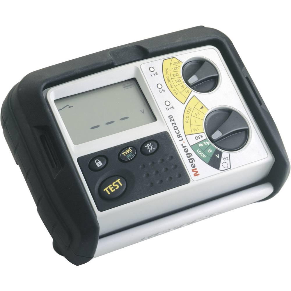 Megger LRCD220 kombinirani brusilnik- in FI/RCD-merilna naprava DIN VDE 0413-6, EN61557-6