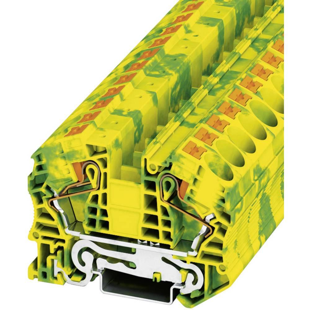 Push-in beskyttelsesleder terminal PT-PE Phoenix Contact PT 16 N-PE Grøn-gul 1 stk