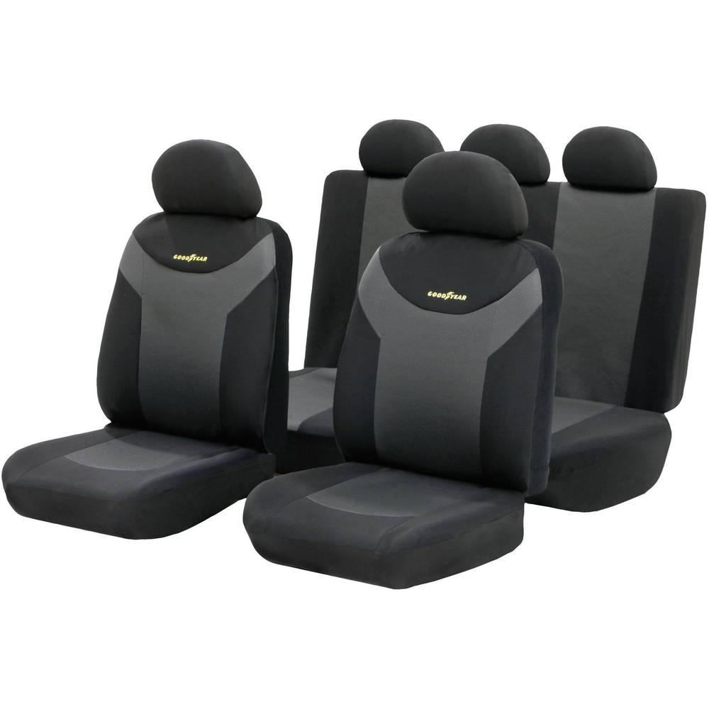 Univerzalna sedežna prevleka Goodyear, antracitno sive in črne barve, 9-delni komplet 75529