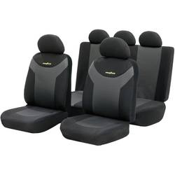 Seat Cover 9-pc. Goodyear Antracit, Sort 9 Parts