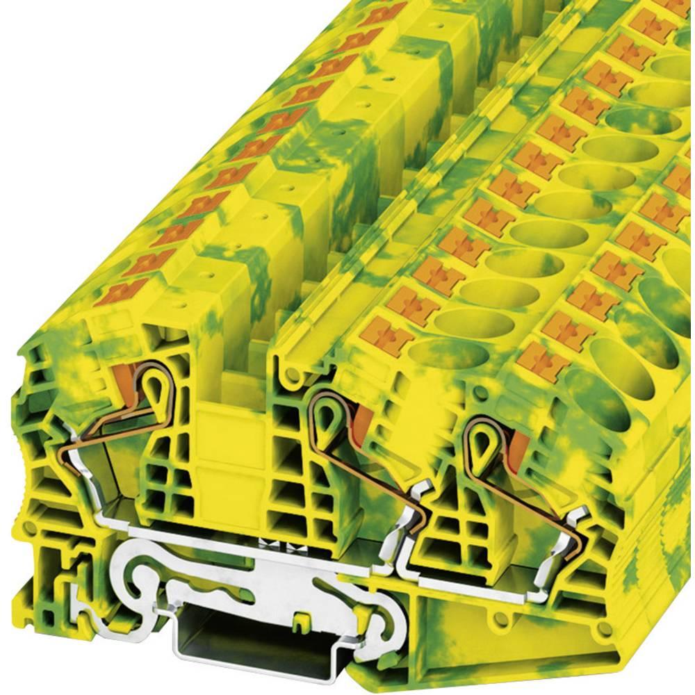 Push-in beskyttelsesleder terminal PT-PE Phoenix Contact PT 16-TWIN N-PE Grøn-gul 1 stk