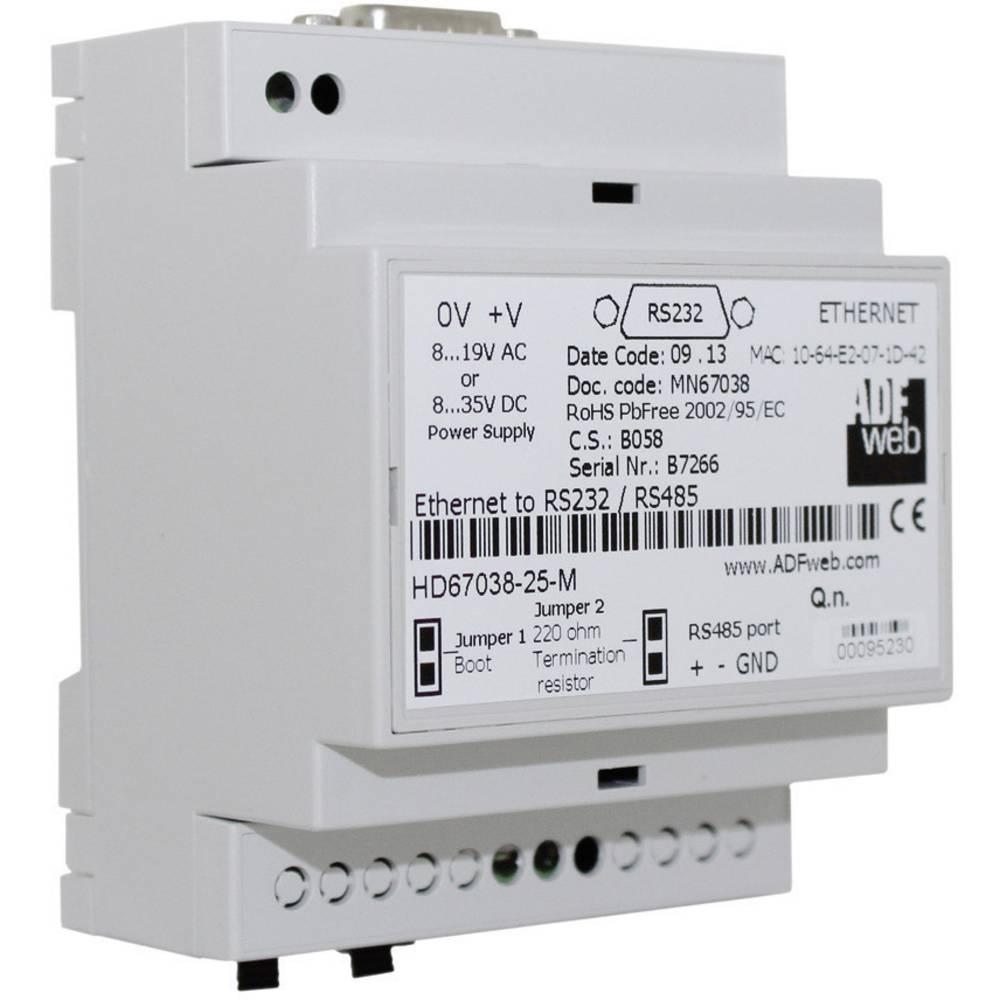 Wachendorff Adapter Ethernet zu RS232 / RS485 HD6703825M 24 V/DC / 12/18 V/AC vmesniki 1 x RS232, 1 x RS485, 1 x