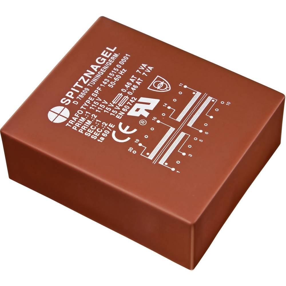 Ul 30/10,5 Ploščati transformator SPF primarni: 2 x 115 V sekundarni: 2 x 15 V 2 x 200 mA 6 VA SPF 0641515 Spitznagel